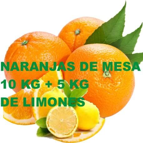 10 Kg NARANJAS DE MESA+5Kg DE LIMOMES