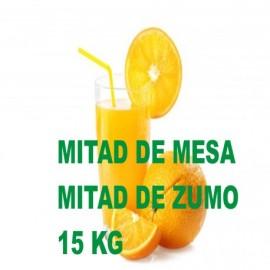 Mitad de Mesa seleccion 7.5 kg. y Mitad de Zumo especial 7.5 kg. Caja de 15 Kg.