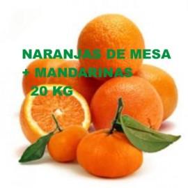 15 Kg de Naranjas de Mesa seleccion + 5 Kg Mandarinas