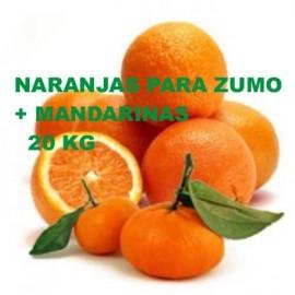 16 Kg Naranjas Para Zumo + 5 Kg de Mandarinas (21 Kg)