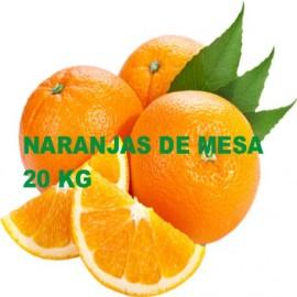 Naranjas de Mesa seleccion. Caja de 20 Kg.