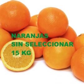 Naranjas sin seleccionar . 15Kg.